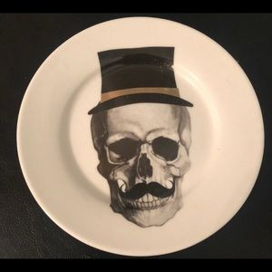 Top Hqt Skull Porcelain Catchall Dish Plate